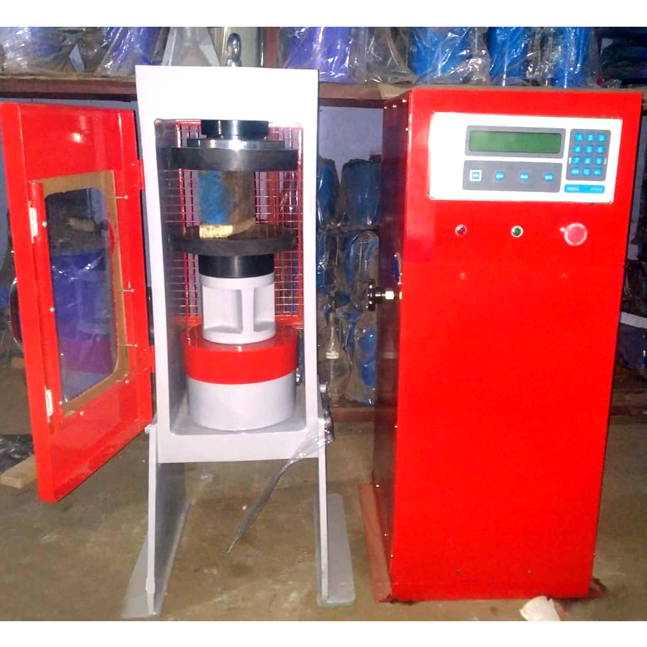 Automatic Compression Testing Machine with Automatic Pace Rate Controller