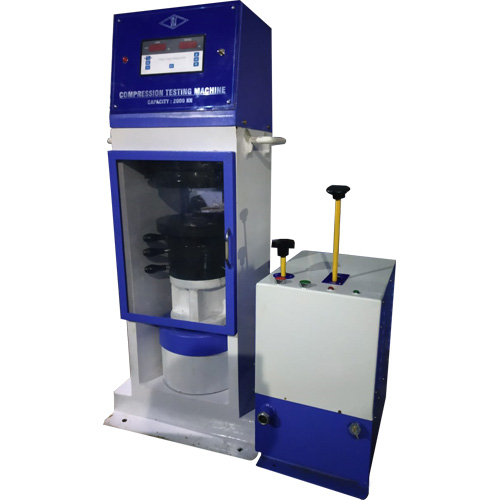 semi-automatic compression testing machine plate type power pack model