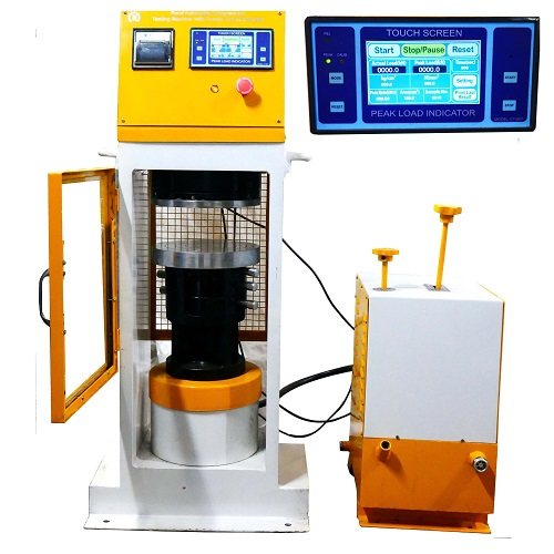 semi automatic compression testing machine plate type power pack model